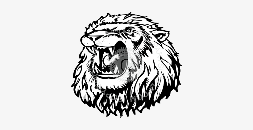 Clip Free Angry Lion Clipart.