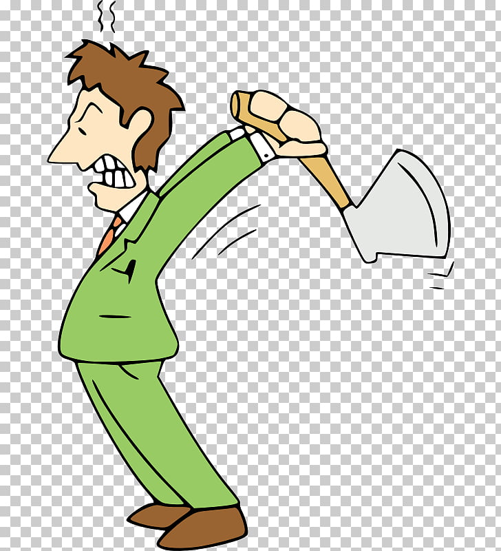 Cartoon Animation , angry man PNG clipart.