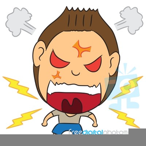 Angry Man Cartoon Clipart.