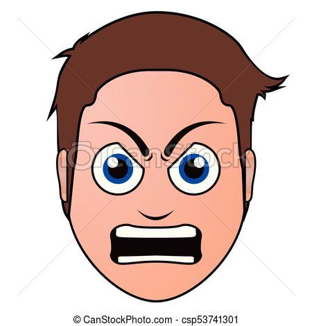Angry man avatar.