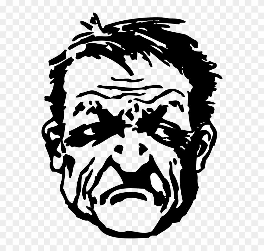 Drawn Anger Angry Man.