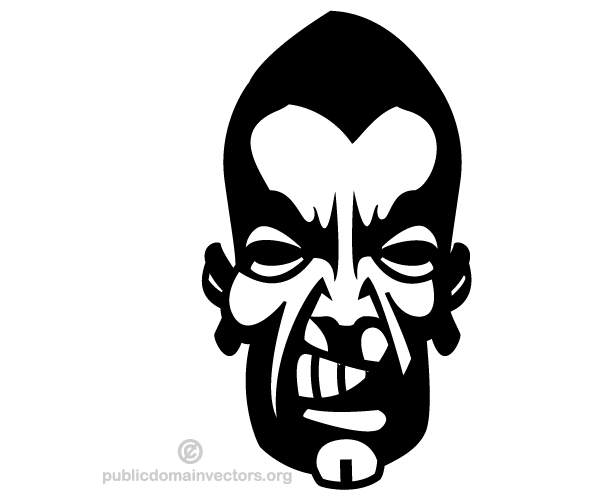 Angry Man Face Vector Image.