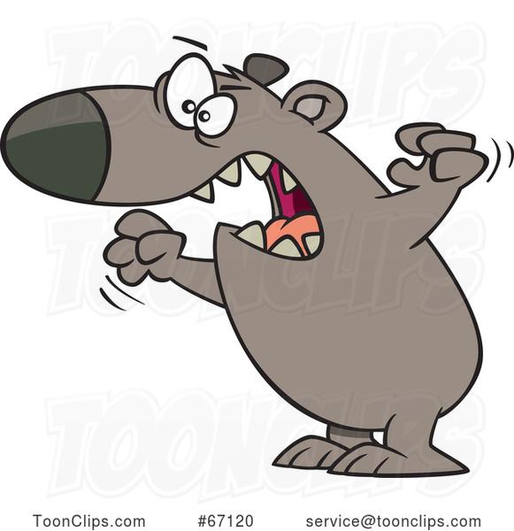 Cartoon Angry Mama Bear #67120 by Ron Leishman.