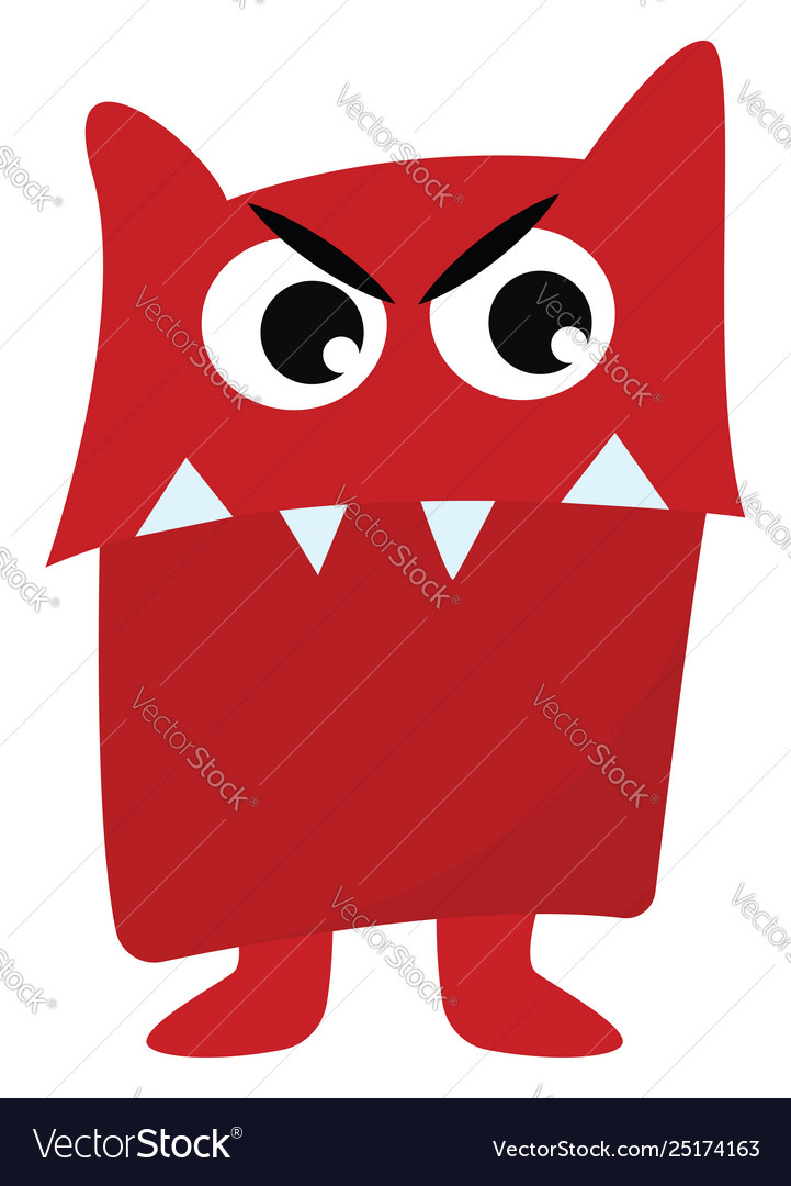 Clipart a red angry monster or color.