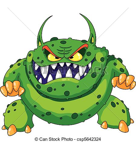 angry green monster.