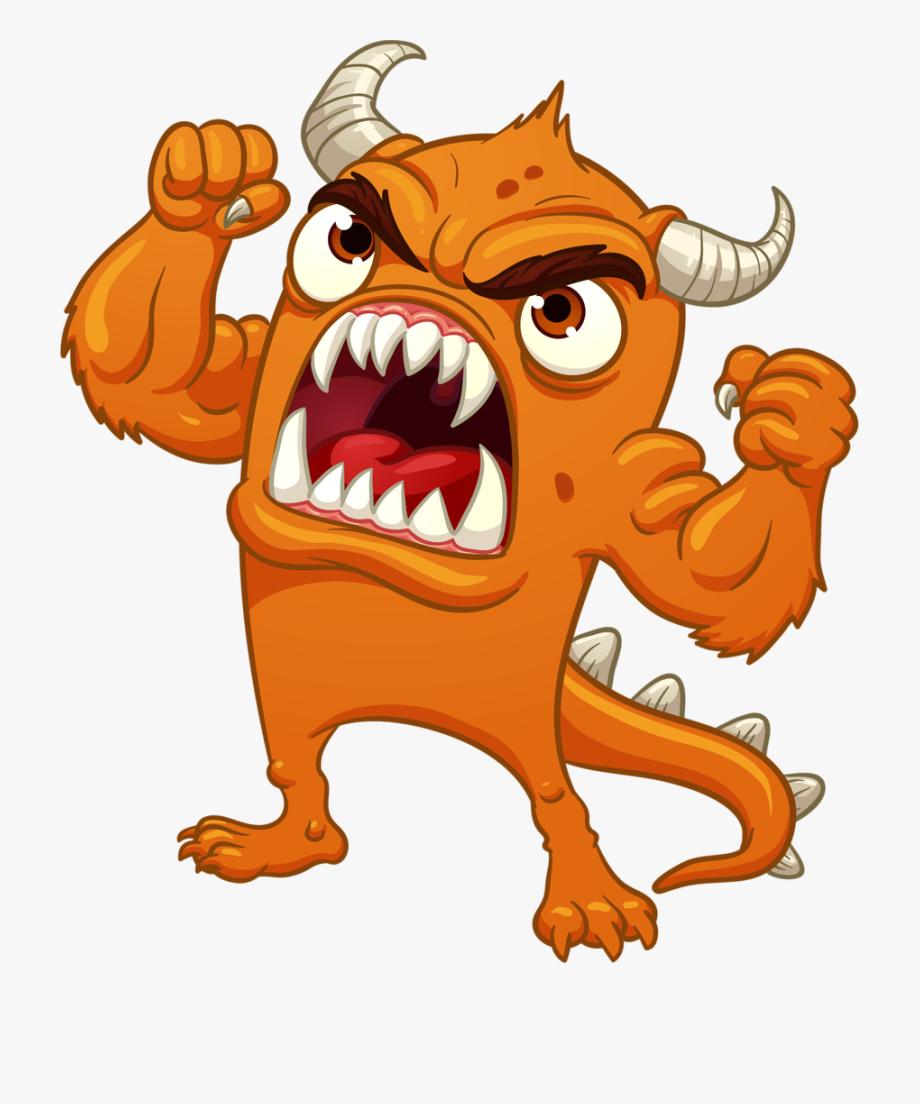 Cartoon Monster Angry #1089210.