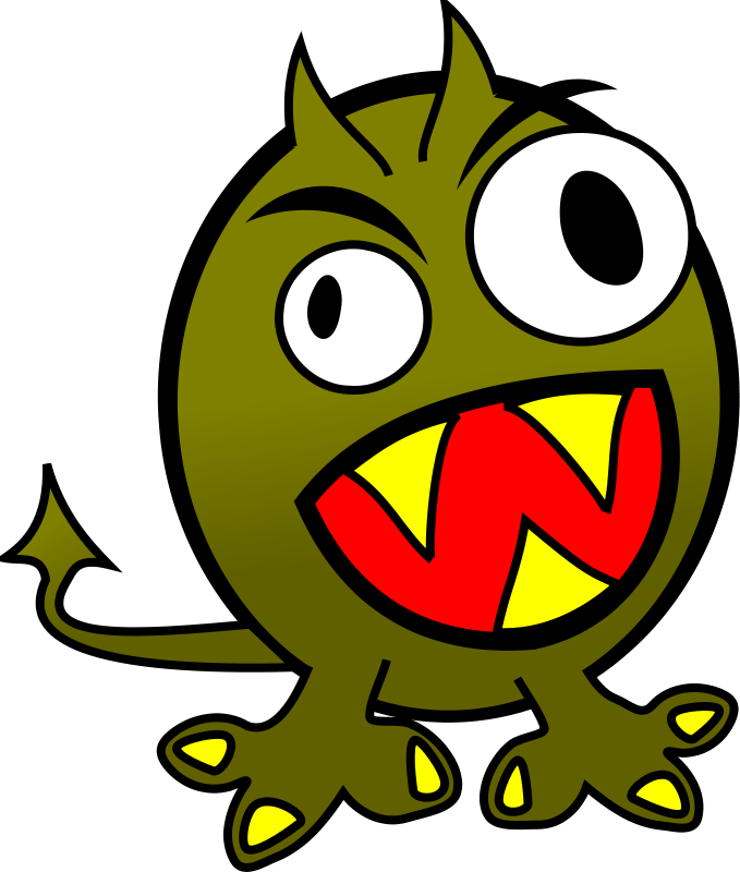 Free Clipart: Small funny angry monster.