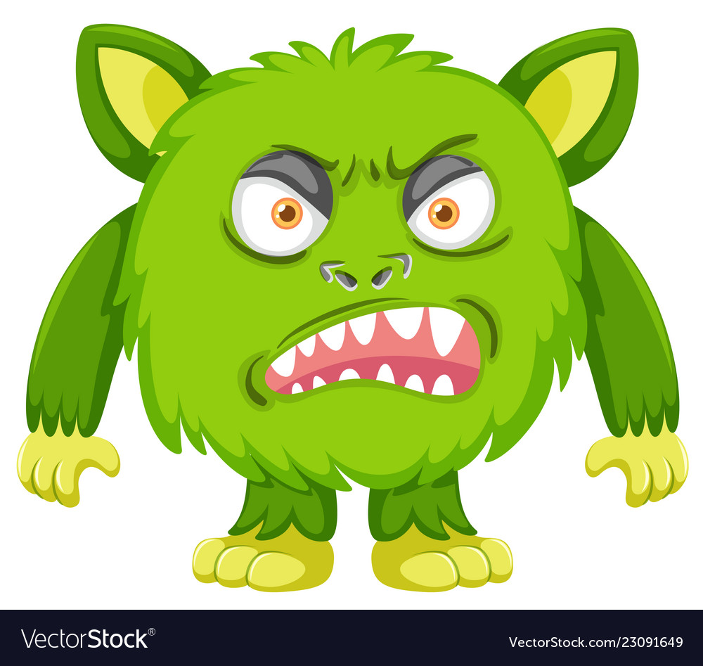 A green angry monster.