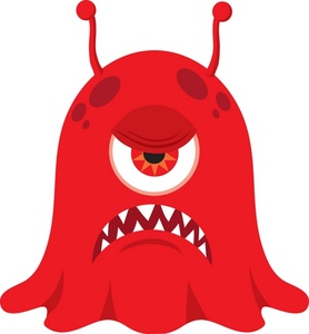 Angry Monster Clipart.