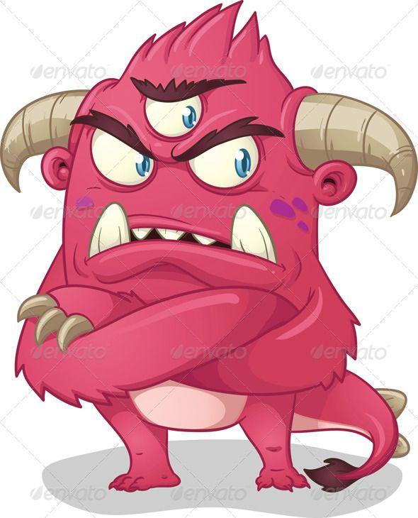 Pink Cartoon Monster.