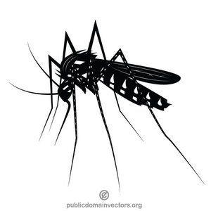 Mosquito clip art black and white.
