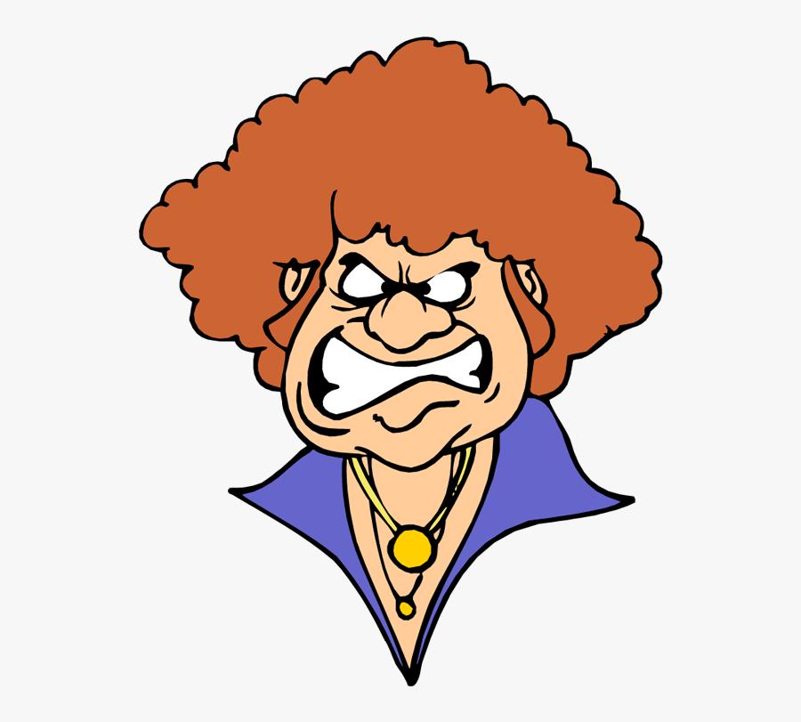 Angry Woman Cartoon.