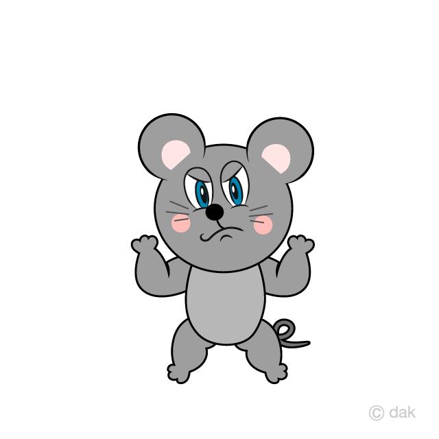 Free Angry Mouse Cartoon Image|Illustoon.