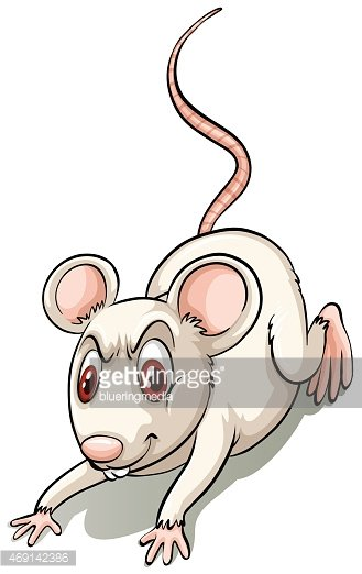 Angry small mouse Clipart Image.
