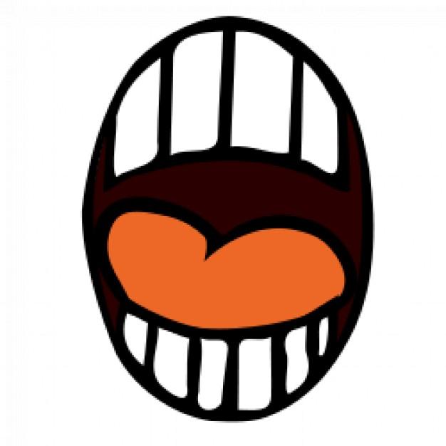 Open mouth cartoon Vector.