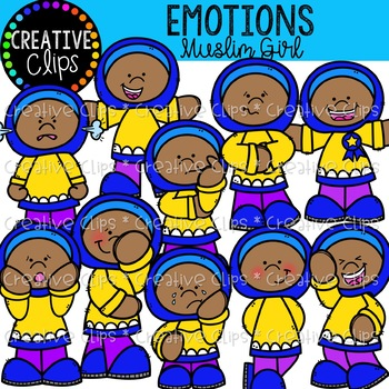 Emotions Clipart: Islamic Girl {Creative Clips Clipart}.