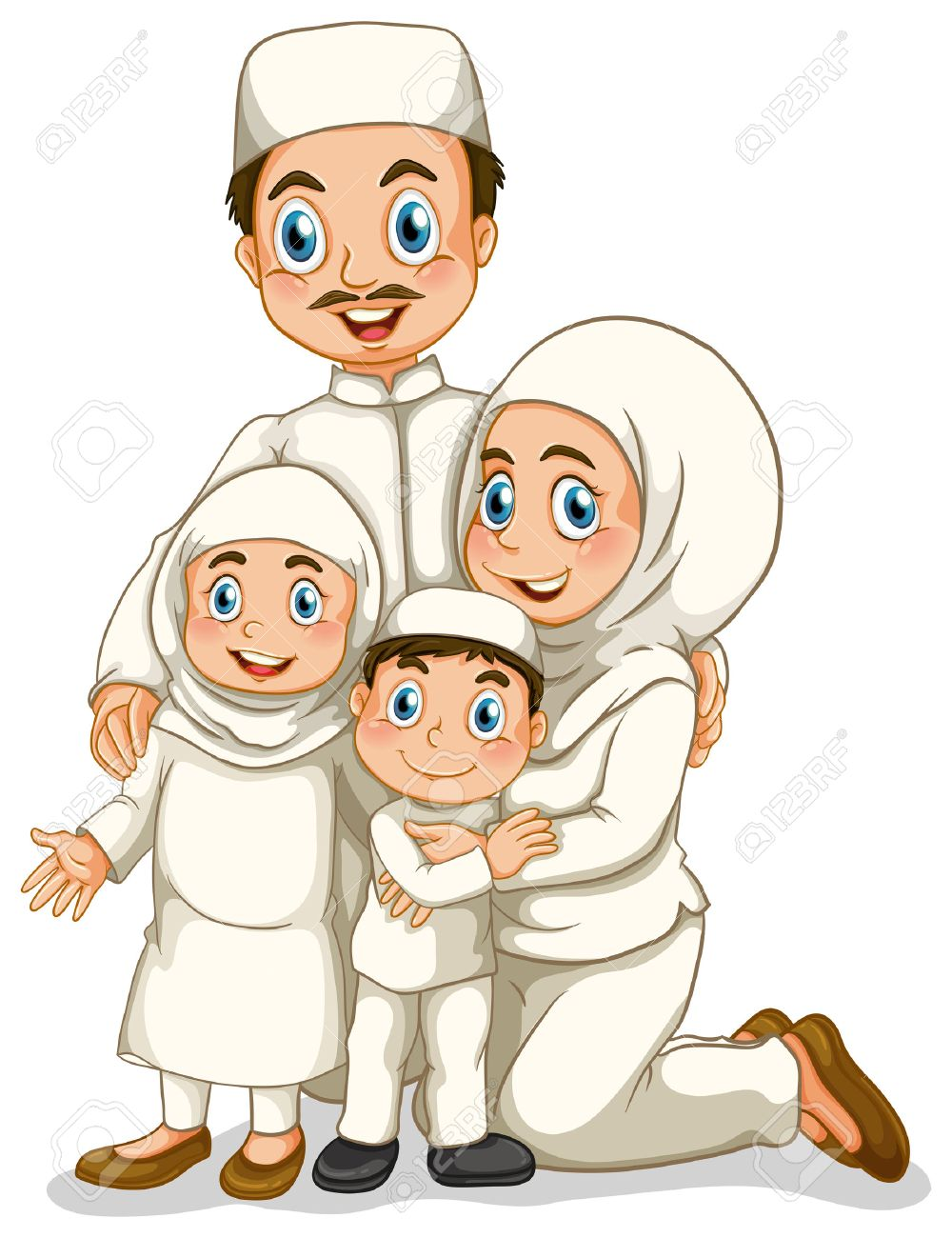 Father Muslim Clipart.