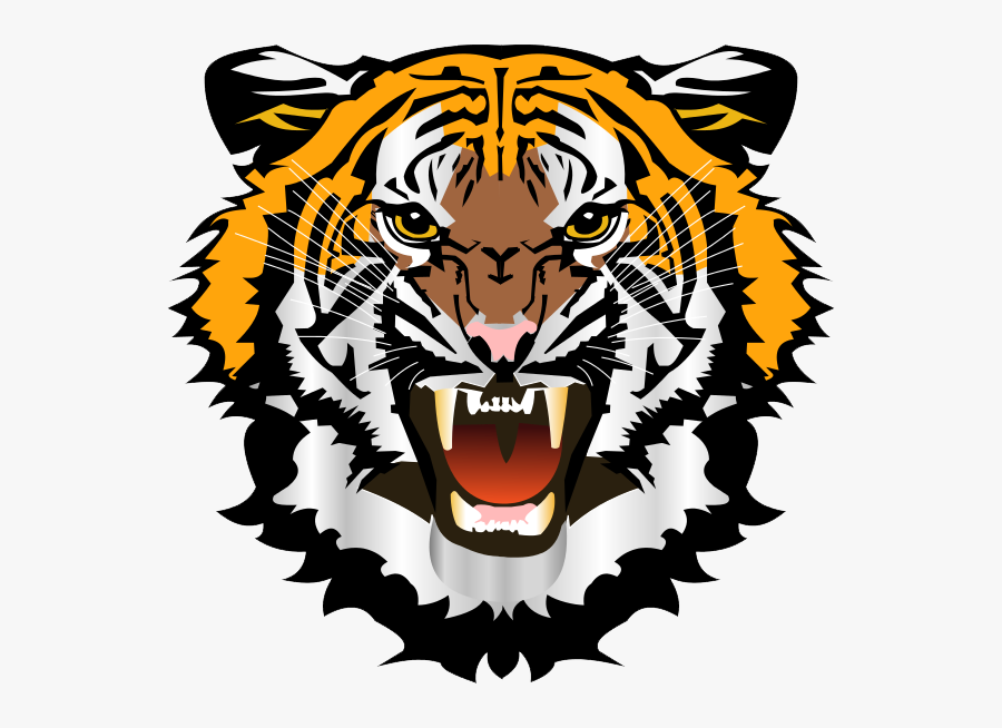 Angry Tiger Head Png , Free Transparent Clipart.