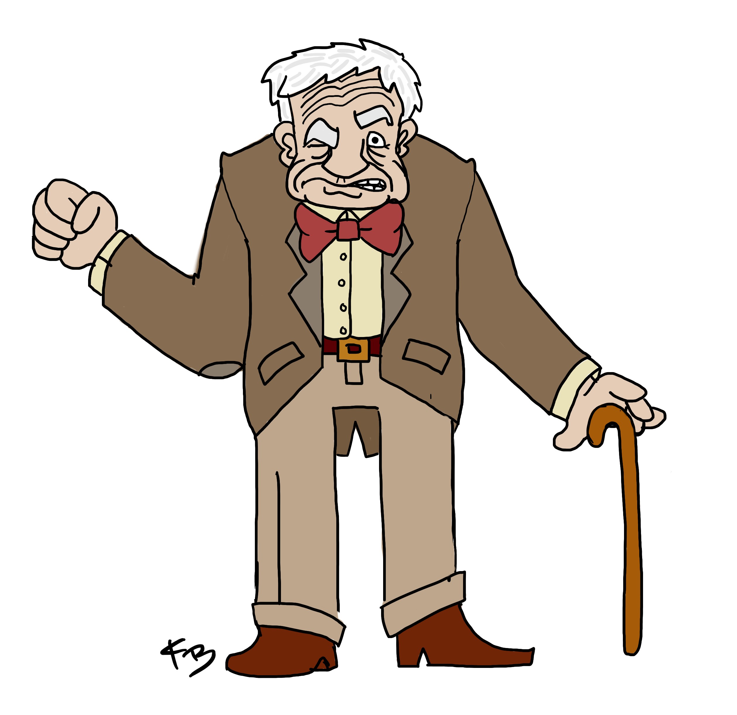 3236 Old Man free clipart.