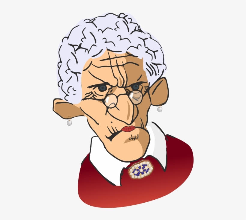 Grumpy Old Woman Clipart.