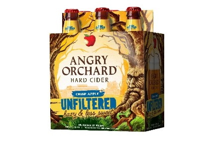 The Boston Beer Co\'s Angry Orchard Crisp Apple Unfiltered.