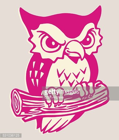 Angry Owl Clipart Image.