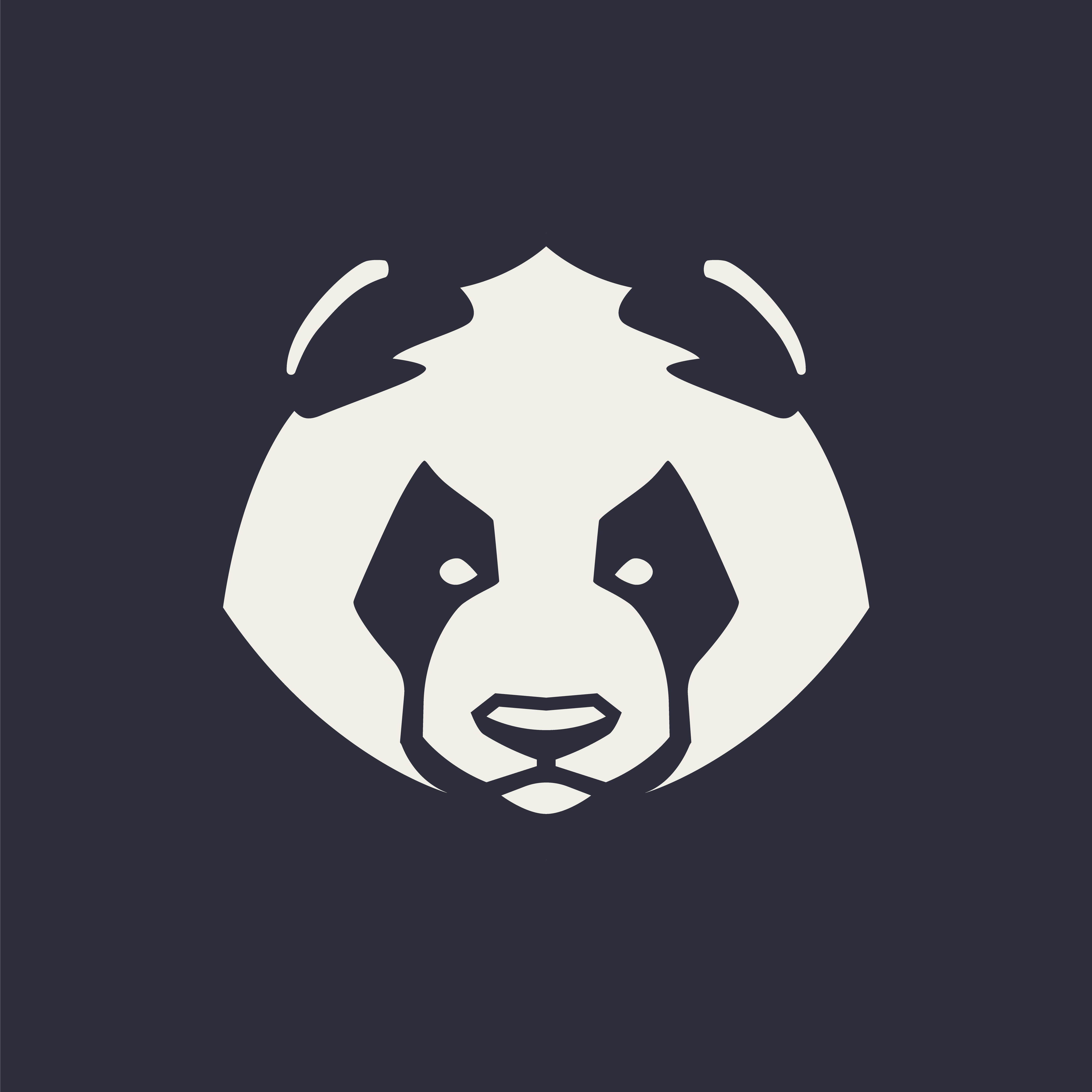 Panda Mascot Vector Icon.
