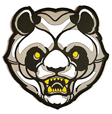 Amazon.com: PVC Angry Panda Bear Morale Tactical Patch with.