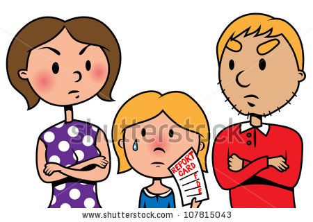 Angry Family Clipart.