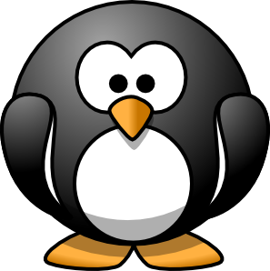 Cartoon Penguin clip art.