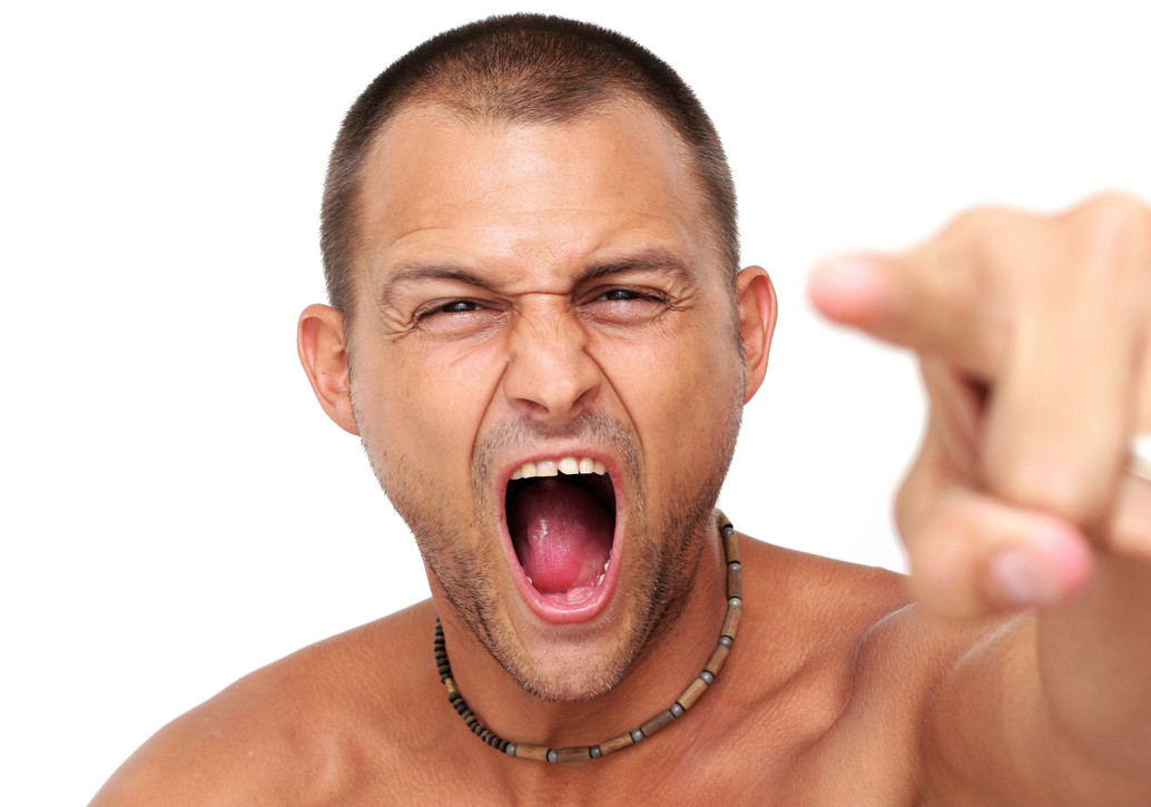 Angry Person PNG Transparent Images.