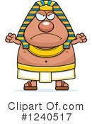 Angry Egyptian Pharaoh Clipart #1.
