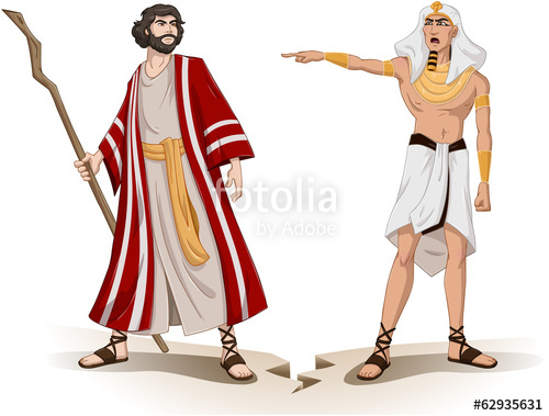 Pharaoh Sends Moses Away For Passover\