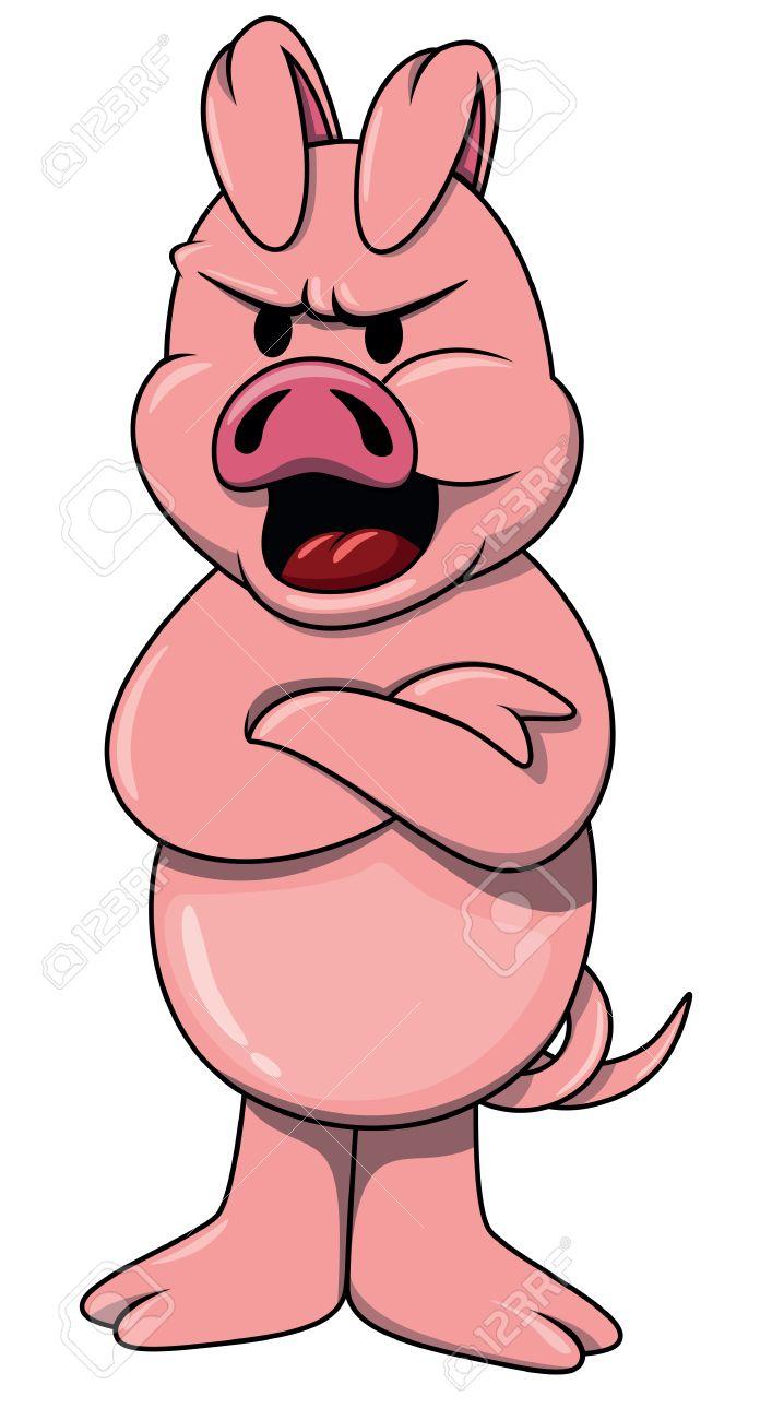 Angry pig.