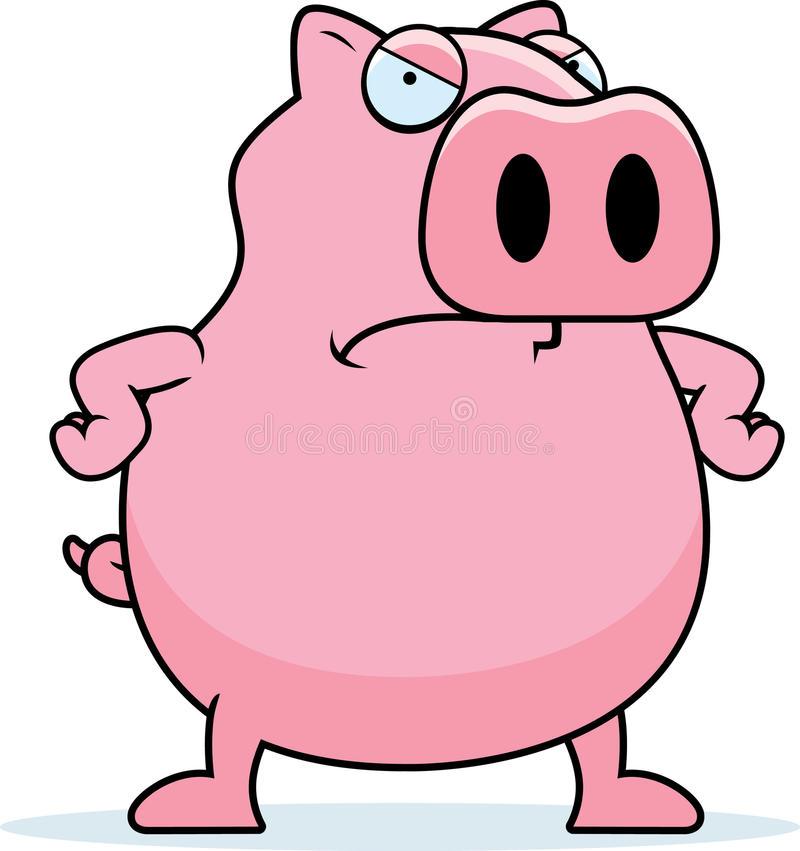 Mad Pig Stock Illustrations.
