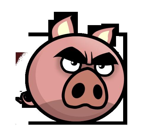 Znalezione obrazy dla zapytania cartoon angry pig.