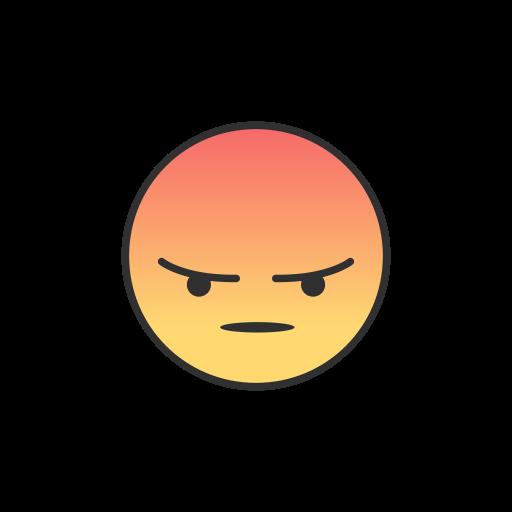 Angry, angry emoji, emoji, facebook icon.