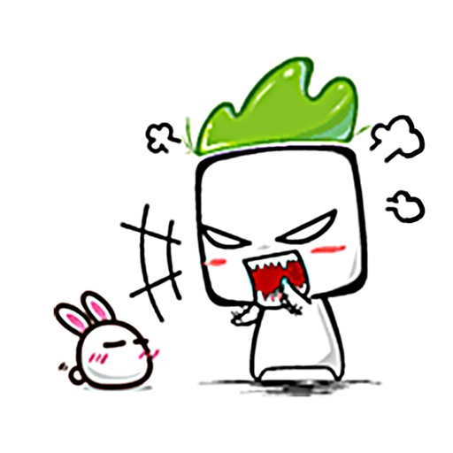 Cute Angry Radish by Dang Doan Hai.