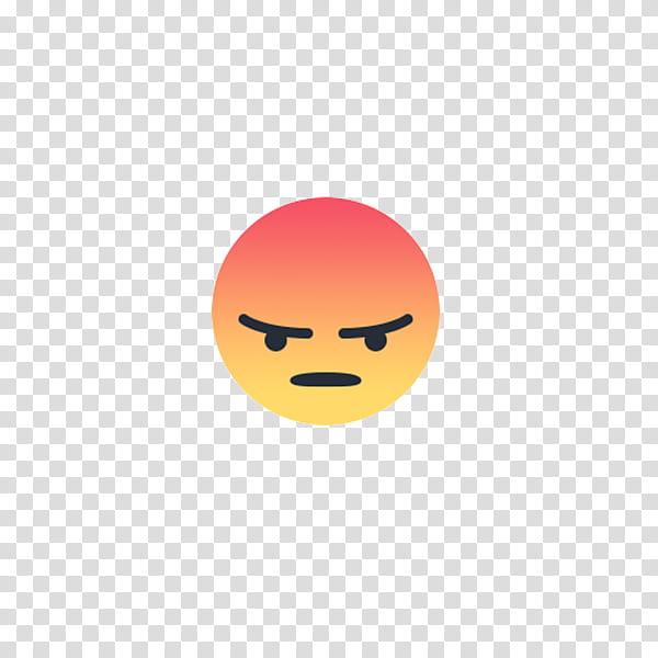 Facebook Emoji, angry emoticon illustration transparent.