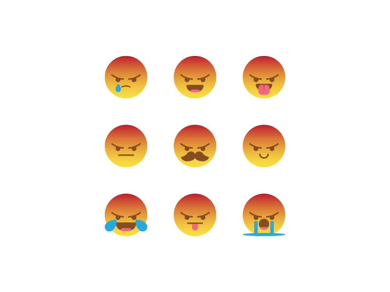 Silly angry react combination by Royyan Wijaya on Dribbble.