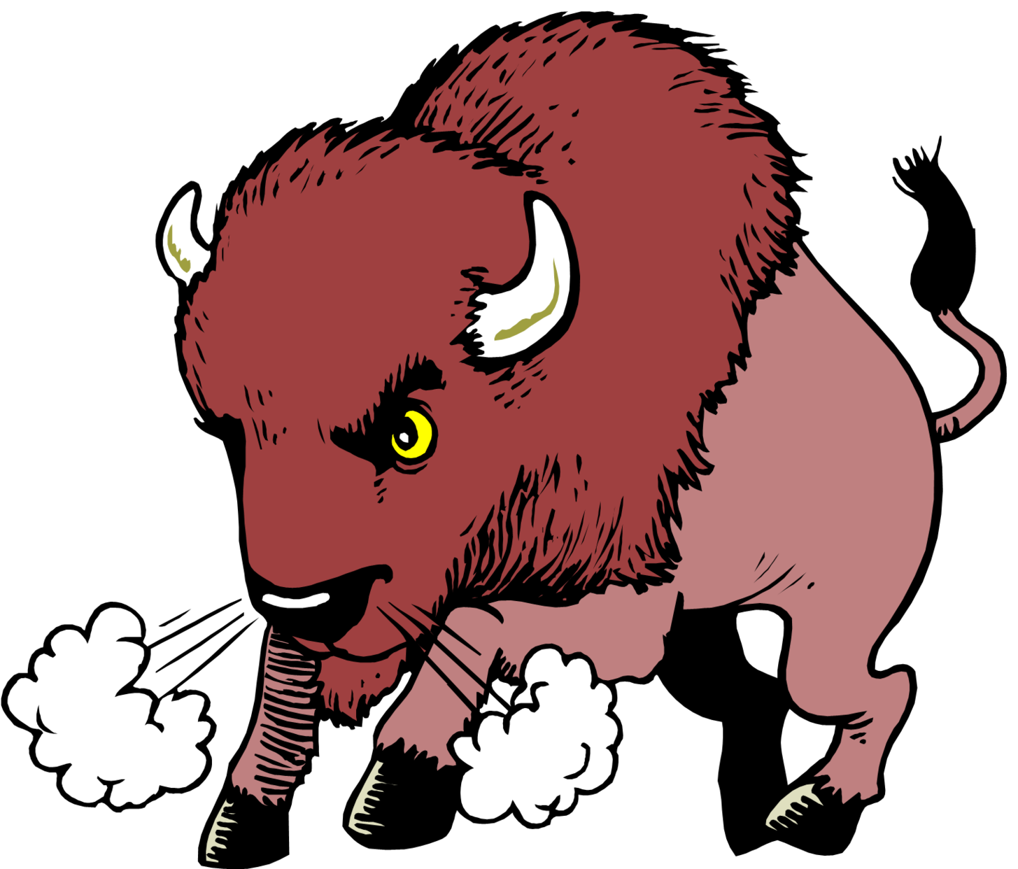 Bison clipart angry, Bison angry Transparent FREE for.