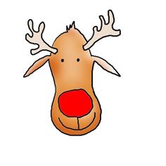 Rudolph reindeer clipart.