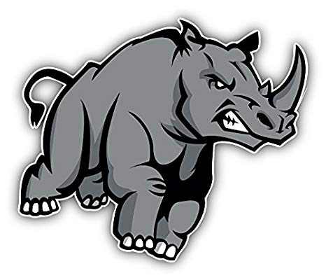 Amazon.com: Angry Rhino Art Decor Bumper Sticker 5\'\' x 4.