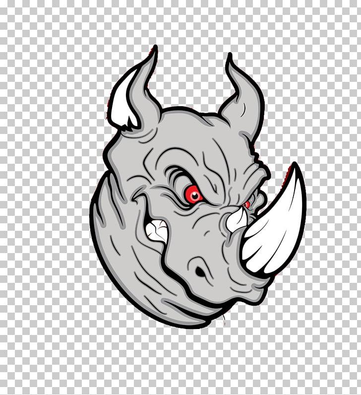 Rhinoceros , Cartoon angry rhino PNG clipart.