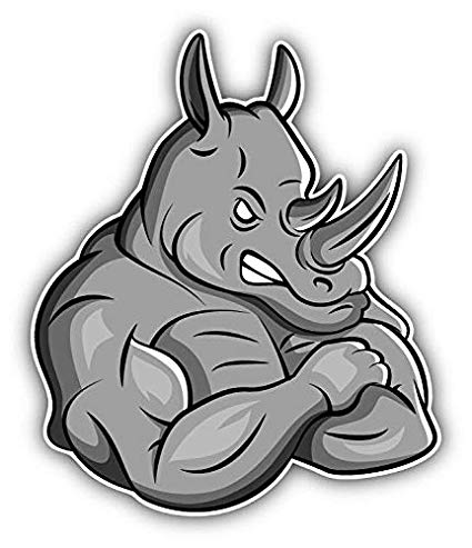 Amazon.com: Magnet Angry Rhino Mascot Vinyl Magnet Bumper.