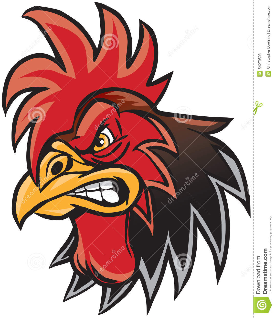 Angry Rooster Clipart.