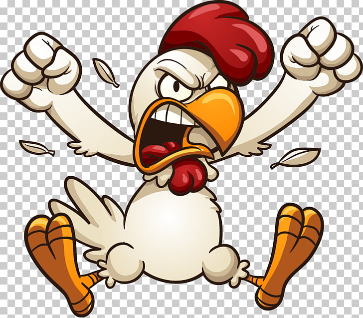 Cartoon rooster, angry chicken illustration PNG clipart.