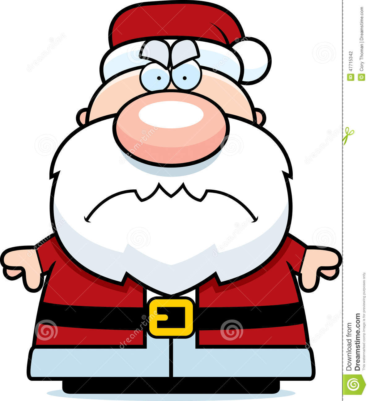 Angry Cartoon Santa Claus stock vector. Illustration of angry.