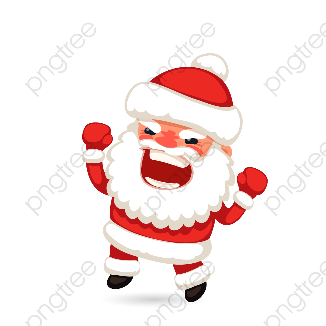 Transparent angry santa claus vector PNG Format Image With Size 1094.