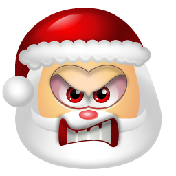 Angry Santa Icon, PNG ClipArt Image.